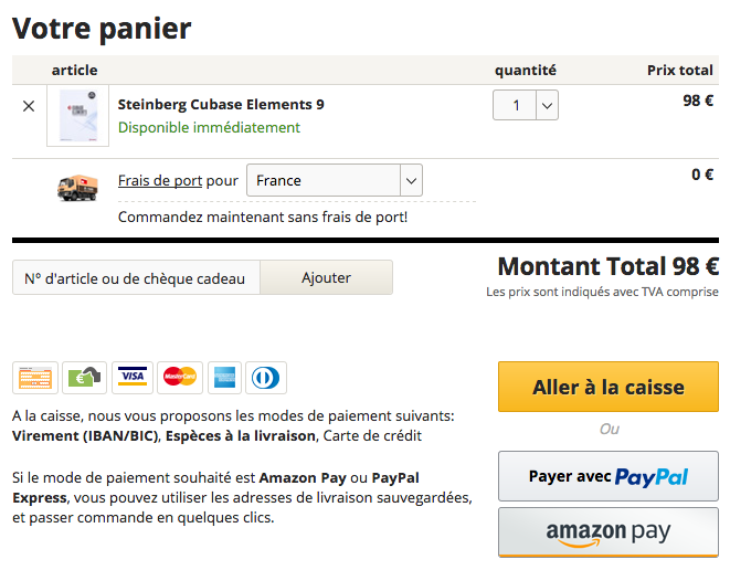 amazon pay validation de commande