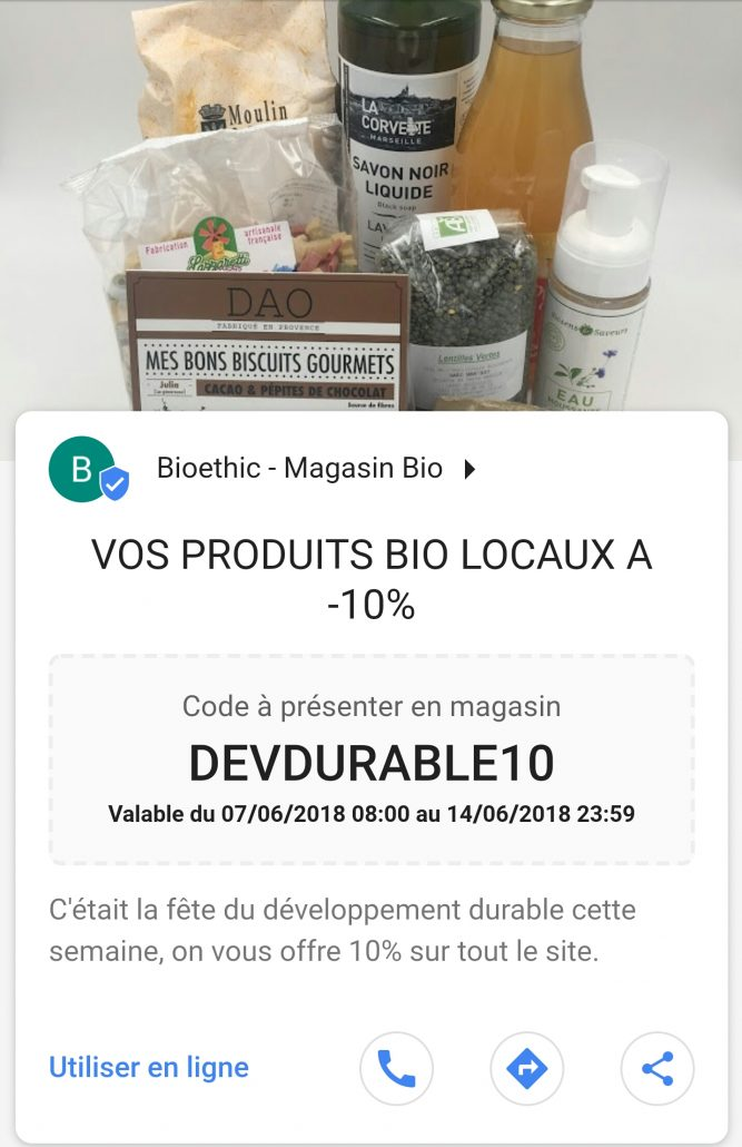 Code promo google my business
