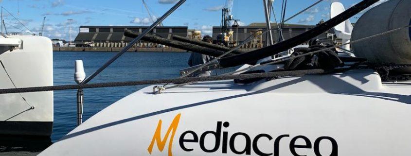 MEDIACREA route du rhum 2018 Bertrand de broc